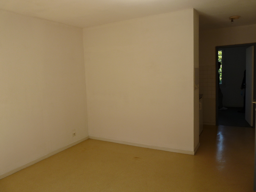 vue pièce de vie appartement f2 avant