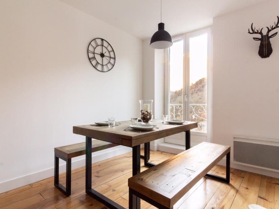 decoration salle à manger indus chalet