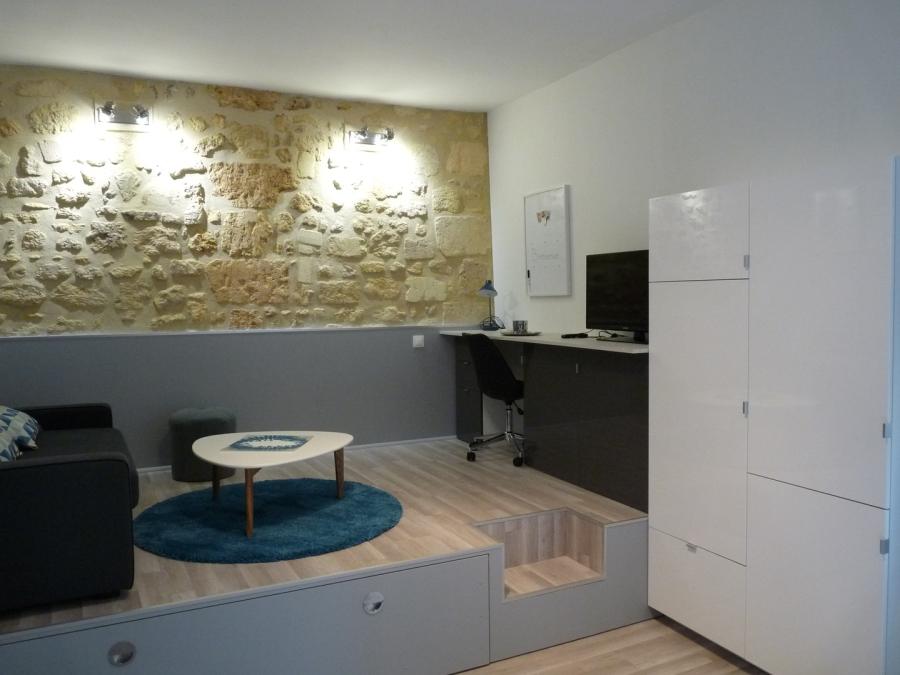 agncement studio astuces estrade espace bureau et lit