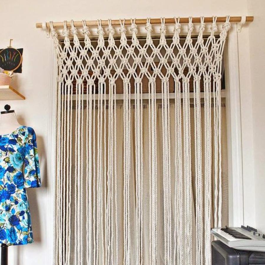 DIY rideau macramé