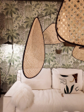 décoration bureau mur vert