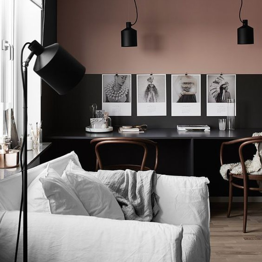 so' blush et noir salon bureau