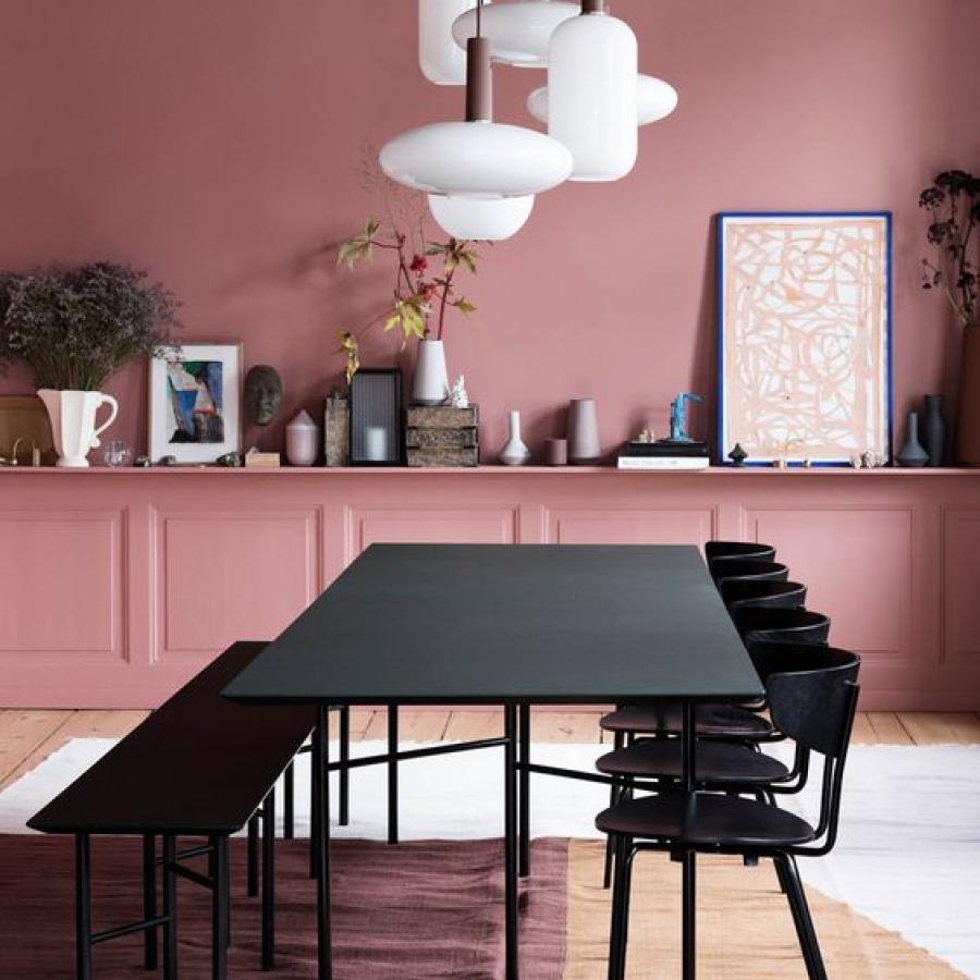 salle à manger rose blush
